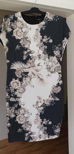Kleid grau/weiss