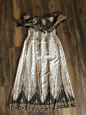 SheIn Maxi Dress beige-black