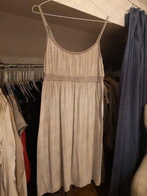 Robe asymétrique blanc-argenté tissu mixte