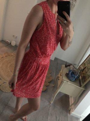 H&M Sukienka z baskinką czerwony