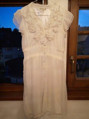 Robe chiffon blanc tissu mixte