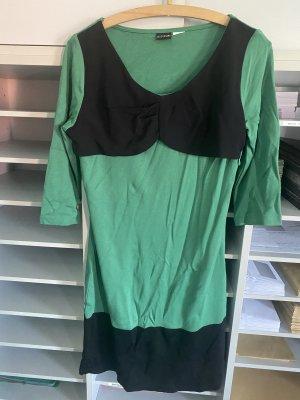 Kleid grün schwarz elegant