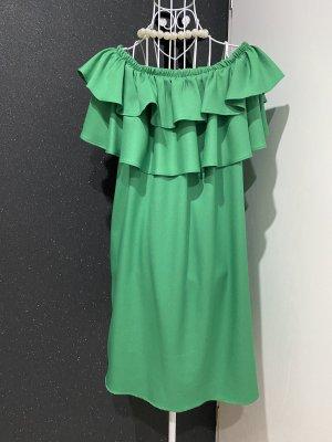 Kleid grün Vollant Gr M-L Neu