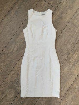 Kleid H&M 34 weiß schick Etuikleid
