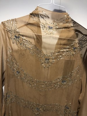 H&M Robe bas asymétrique crème-beige polyester