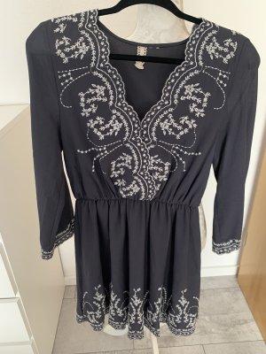 Kleid•H&M•blaugrau•Gr.36