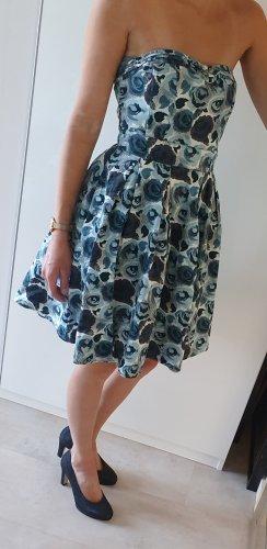 Kleid H&M, Blumen, blau, 34