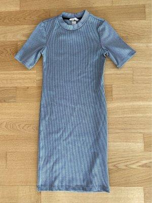 H&M Vestido de tubo gris-color plata
