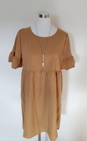 SheIn Sukienka typu babydoll piaskowy brąz-camel