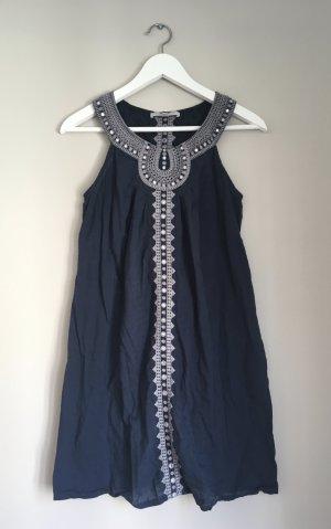 Gharani Strok Abito hippie blu scuro-grigio chiaro Cotone