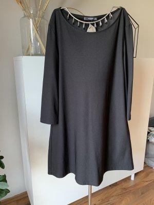 Kleid, hängerchen-schwarz, dreiviertelarm, Mango