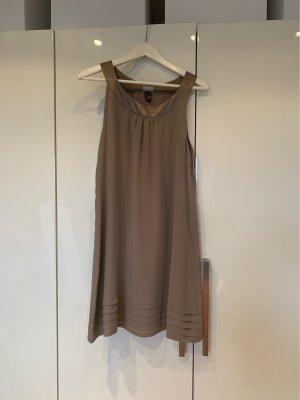 H&M Abito senza spalle marrone-grigio