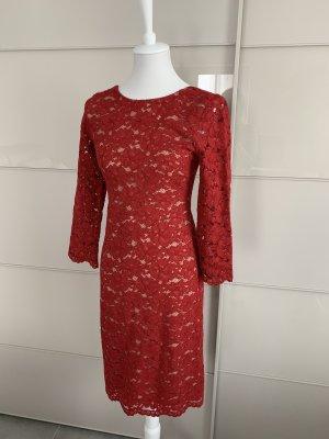 Kleid Hallhuber 34 rot spitze *Neu*
