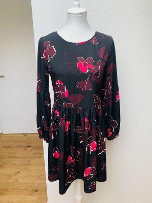 Kleid Hallhuber 36 schwarz Pink Blumen