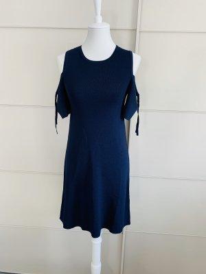 Kleid Hallhuber XS blau freie Schultern