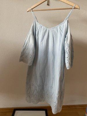 Kleid, hellblau, Spitze