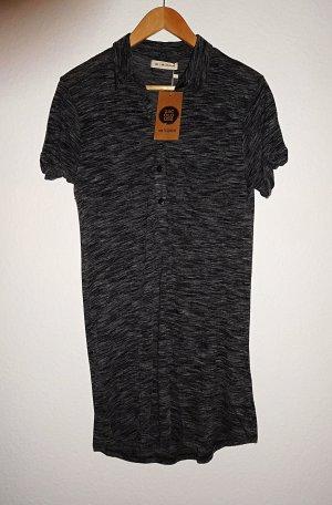 24Colours Vestido camisero gris