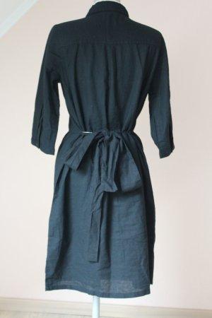 Kleid Hemdkleid Hemdblusenkleid Blusenkleid schwarz neu Gr. S 36 Halbarm