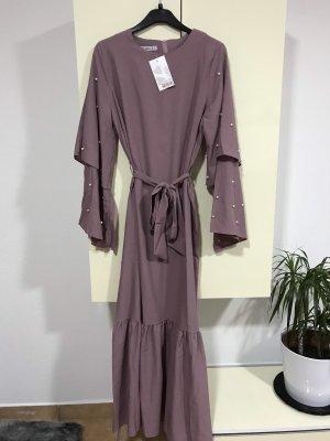 Kleid, Hijabkleid, Abaya, Abendkleid in rosa
