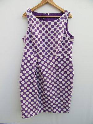 Kleid Hobbs London Gr. 42/Gr.16 lila Sommer business Punkte Seide