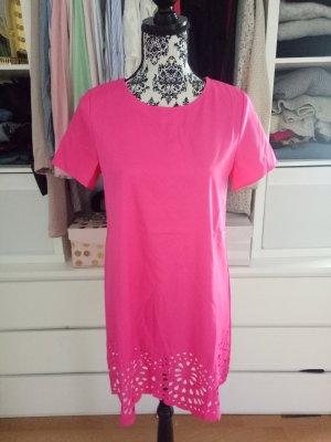 Kleid Hochzeit Pink Cocktailkleid M 38 Lochmuster