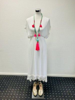 Aus Ibiza Vestido mullet blanco Algodón