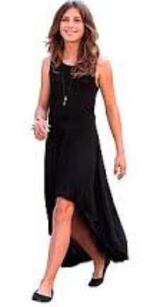 Ichi High Low Dress black polyester