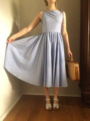 Petticoat Dress white-azure cotton