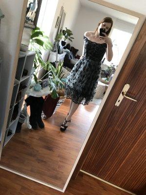 H&M Petticoat Dress black-silver-colored