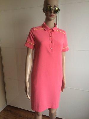 Essentiel Antwerp Robe Polo rose fluo tissu mixte