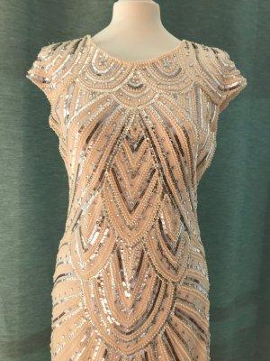 Sequin Dress dusky pink-light grey polyester