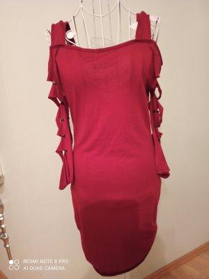 Vestido cut out rojo oscuro