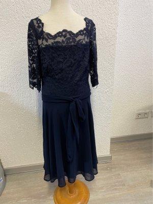 Kleid in Blau Tüllkleid mit spitze Gr. S