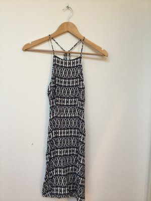 H&M Beach Dress white-dark blue