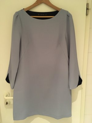 Kleid in blaugrau mit U-Boot-Ausschnitt von ZARA in Größe 40 (L)