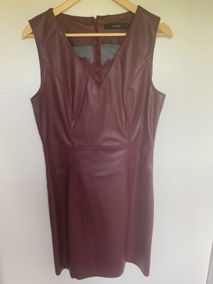 Vero Moda Leather Dress bordeaux