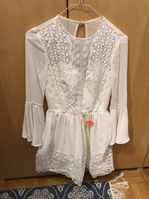 Chi Chi London Lace Dress cream