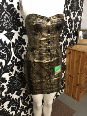 Kleid in Gr.38/36 von Missguided in Gold/ Schwarz , neu!