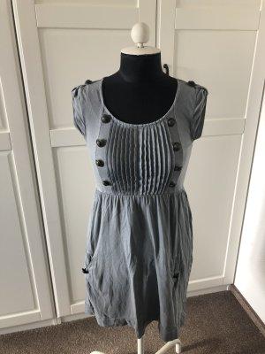 Kleid in Grau mit Knöpfen, Review, Gr. XS