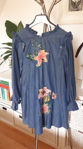 Kleid in Jeanslook von ZARA Gr. XS/S
