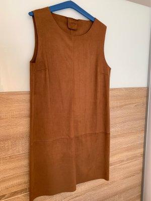 Kleid in Leder Optik