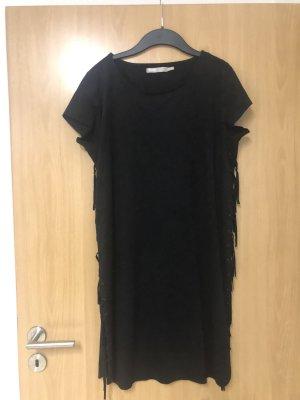 Minimum Robe à franges noir