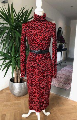 Zara Longsleeve Dress black-dark red