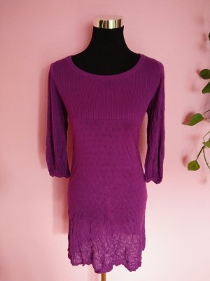 Abito di maglia viola