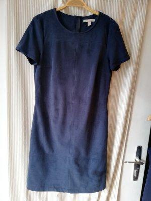 Kleid in rauhleder Optik