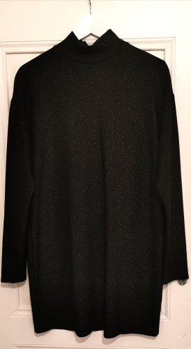 Kleid in Schwarz mit Glitzer-Details