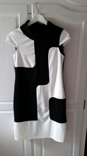 Apart Sukienka etui biały-czarny