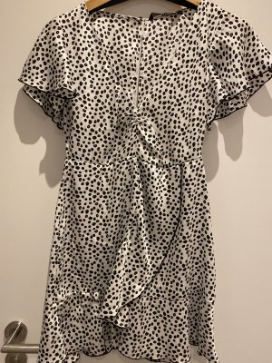 Zara Flounce Dress white-black