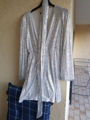 kleid in silber mit Pailletten von shein