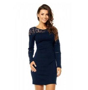 Gebreide jurk donkerblauw